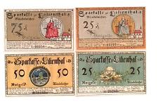 1921 Germany LILIENTHAL  set  25 25 50 AND 75 Phennig Notgeld
