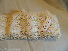 7.5 YARDS ANTIQUE FRENCH BOBBIN LACE EXTRA WIDE