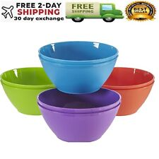Plastic Cereal Soup Bowls Large 28 Ounce Microwave Safe Set Of 8