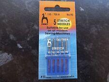 PONY Sewing MACHINE NEEDLES- STRETCH pk5  size 90 (130/75)