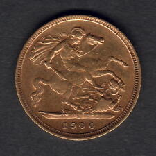 Australia.  1900 Sydney - Half Sovereign..  Part Lustre..  VF/gVF