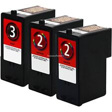 3-PACK Black / Color Printer Ink Cartridges No. 2 / 3 for LEXMARK X2480 X2580