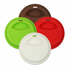 NEW 4 Pack Reusable Coffee Tea Silicone Cup Lids Mug Cover Silicone Tools