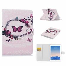 Pink Purple Butterfly Pattern Cover for Apple iPad Air 1 Case with Stand