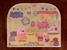 Peppa Pig Birthday Countdown Calendar w/ 7 Toys - Super Cute!