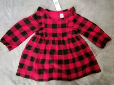 Baby Gap toddler girl 18-24 months Red & Black Checkered Holiday Dress Christmas
