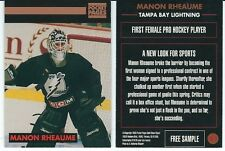 Manon Rheaume Pocket Pages #41 Woman Goalie Promo Hockey Trading Card