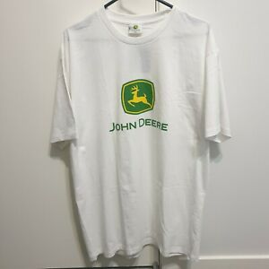John Deere White Logo Tee Size XL Brand New with Tags