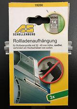 Schellenberg 19200 Rolladenaufhängung Aufhängung für System Mini 3 Stück