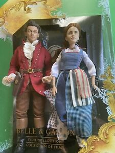 Disney Store Belle & Gaston Movie Collection Doll Set Beauty & The Beast Film