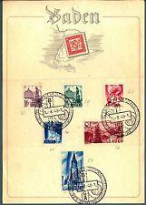 GERMANIA - Occ. Franc. - Baden - 1948 - Personalità  - val. diversi