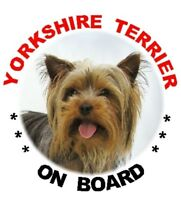 2 Yorkshire Terrier Car Stickers By Starprint - Auto combined postage