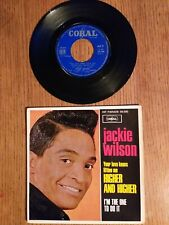 DISQUE VINYLE  45 TOURS   JACKIE WILSON HIGHER AND HIGHER