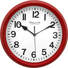 "Mainstays 8.78"" Basic Clock Red"