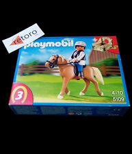 PLAYMOBIL 5109 CABALLO ESCUELA DE EQUITACION CON ESTABLO School Horse New Nuevo