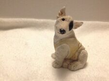 Vintage 1988 Stone Critters: Bull Terrier W/Shirt Sc-240 Collectable Figurine