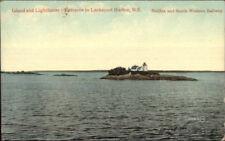 Lockeport Harbor Nova Scotia Island & Lighthouse 1907 Postcard