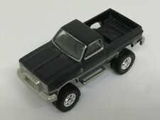 2014 HOTWHEELS 1/64 SCALE METAL/METAL BLACK 1983 CHEVY SILVERADO 4X4 REAL RIDERS