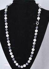 "Long 24"" 10mm South Sea Shell Pearl Gemstone Round Beads Necklace AAA"