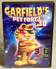 Garfield's Pet Force 3D (DVD, 2010 20th Century Fox) Includes 1 Pair 3D Glasses