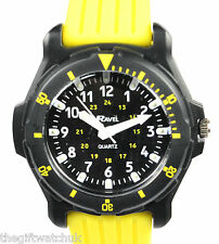 Older Boys, Teens, Youths Big Yellow Watch, Trendy Silicone Strap, NEW, Ravel