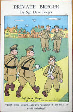 1940s WWII Linen Postcard: Private Breger by Dave Breger #311