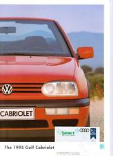 VW VOLKSWAGEN GOLF CABRIOLET 1.8 75bhp 1.8 90bhp AVANTEGARDE SALES BROCHURE 1995