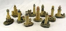 Vintage K's Collection Soft Engraved Lighthouse Series Collectibles - Lot of 10