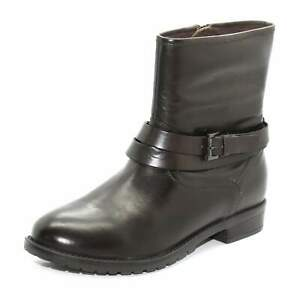 Kangol Womens Brown Leather Sophie Zip Up Ankle Boots