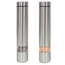 Ovation 18cm Stainless Steel Salt & Pepper Electric Mill Set Fine/Coarse Grinder
