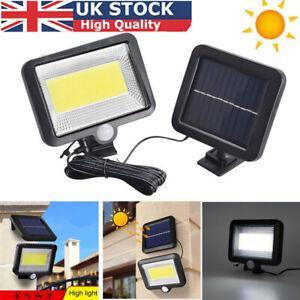 100 LED Solar Outdoor PIR Powered Motion Sensor Garden Wall Light Security Flood