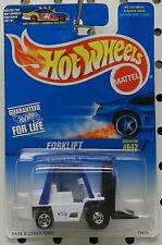 WHITE BLUE FORKLIFT WAREHOUSE DOCK 1997 TOY 642 HW HOT WHEELS