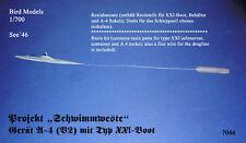 "Projekt ""Schimmweste"" A-4 mit Typ XXI  1/700 Bird Models Resinbausatz/resin kit"