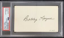 Bobby Layne Signed Index Card Autograph PSA/DNA Lions Football HOF Slabbed