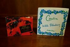 Lot Faberge Flambeau Savon Compact & Carolina Wilde Blueberry Sachet 4 Soap Bars