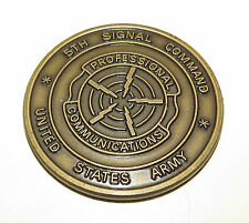 Challenge Coin Winners Circle 5th Signal Command United States Army  bronze