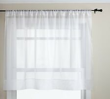 "Graceful Short Panel Solid Sheer Window Curtain Rod Pocket 58 Inch x 36"" Long"