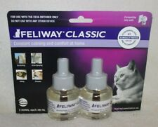 Feliway Classic Diffuser Refill for Cats 2 pack 48 ml each Exp 3/22
