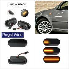 Left+Right Dynamic Smoked Lens Car Yellow LED Side Marker Light Fenders Lamp UK