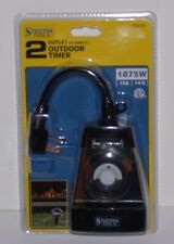 2 Outlet Mechanical Outdoor Timer