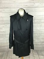 """Men's GIEVES & HAWKES Rain Mac - 42"""" Chest - Navy - Great Condition"""