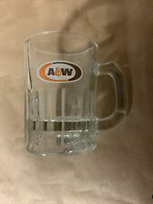 """Vintage AW Root Beer Mini Mugs A&W Oval Logo 3"""" Tall Collectible Glass Shot"""