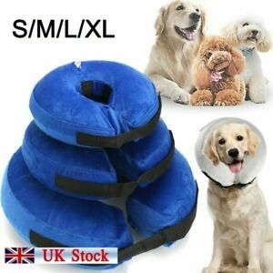 Inflatable Dog Cat Puppy Pet Vet Collar Post Surgery Lampshade Cone Neck Injury