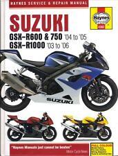 SUZUKI GSXR600,GSXR750 & GSXR1000 HAYNES WORKSHOP MANUAL 2003-2006