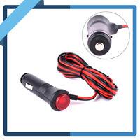 10A 12V/24V Male Car Cigarette Lighter Socket Plug Connector Switch 1.5m 4.9ft