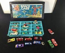 VINTAGE TOY 1980'S-90'S ACTION FIGURE SPACE CASE WITH PLASTIC & METAL CARS