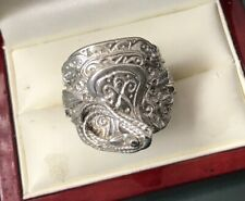 SILVER SADDLE STYLE Ring Size Y Weight 22.5g FULLY HALLMARKED Quality HEAVY