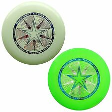 NEW Discraft ULTRA-STAR 175g Ultimate Frisbee Disc (2 Pack) GLOW/GREEN