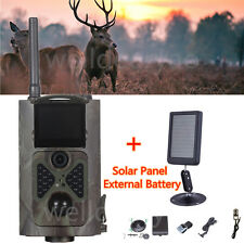 HC500M 12MP 1080P 2G MMS Hunting Scouting Game Trail Camera+Solar Panel Battery