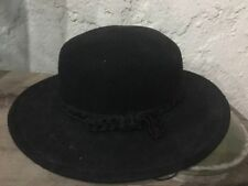 Vintage Street Smart by Betmar Ladies Hat Black 100% Wool USA One Size 77304a453495